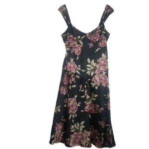 Lauren Ralph Lauren Floral Silk Dress Sleeveless